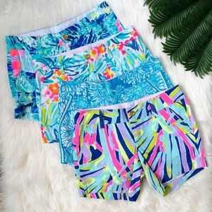 4 Pairs of Lilly Pulitzer Shorts Size 00